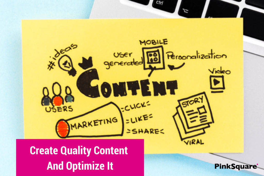 Note showing website content quality is important