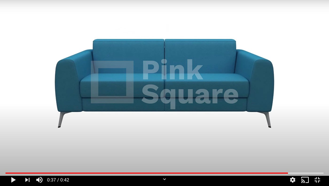 3d animation of sofa-cum bed