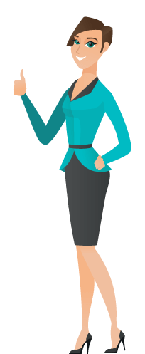 an illustration  of a business woman