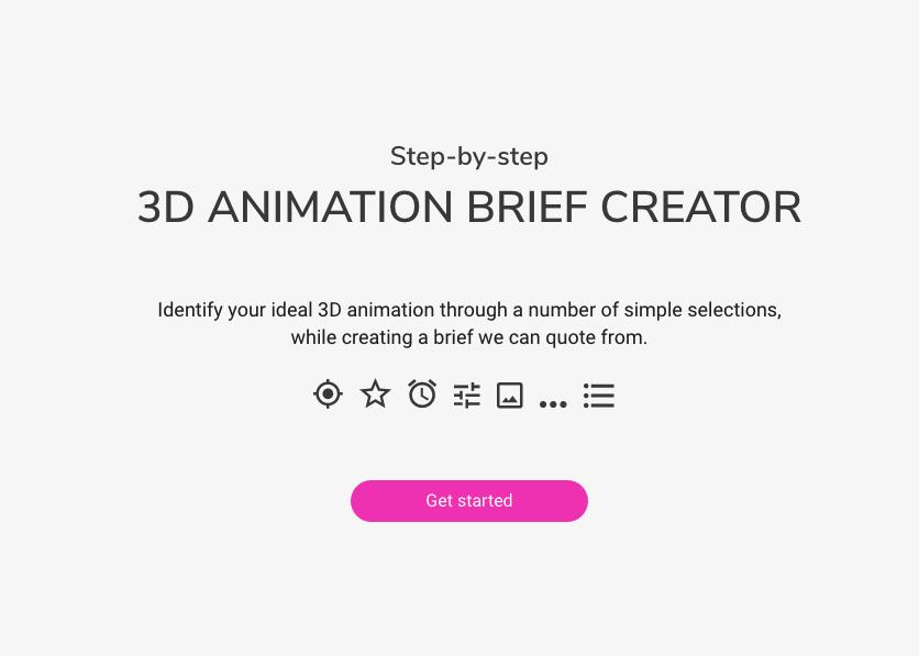 3d animation brief generator